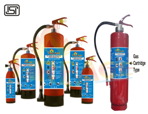 Stored Pressure & Squeeze Grip Cartridge Operated Fire Extinguisher